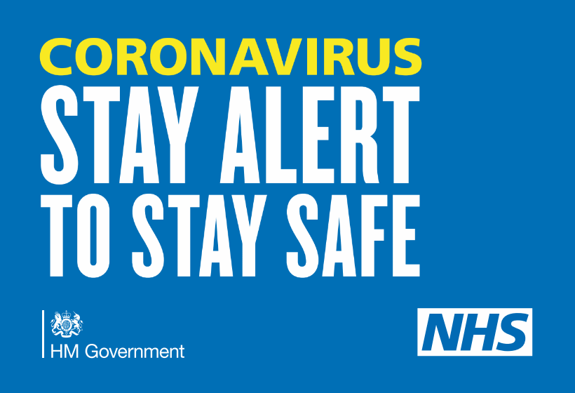 Coronavirus. Stay home. Protect the NHS. Save Lives.