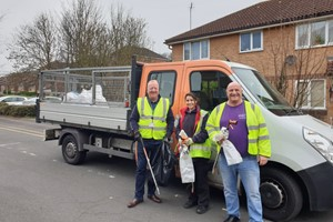 We teamed up with local councillors and residents to litter-pick around Chatham