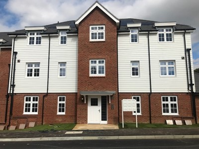 Front of apartments in Spencer's Field, Marden, Maidstone